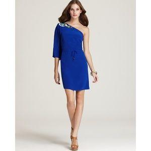 Trina Turk One Shoulder Blue Dress